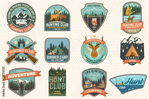 Photo  Summer camp and Hunting club patches
