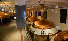 Copper Brewing Kettles In Brew...