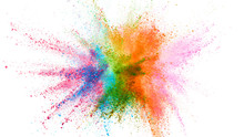 Explosion Of Colored Powder Is...