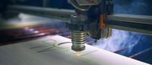 Laser Cutting Machine Is Cutti...