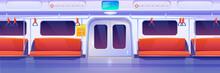 Subway Train Car Inside. Empty...