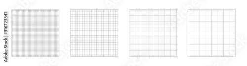 Grid templates, isolated on white background Fototapeta