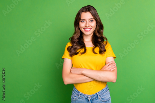 Cuadros en Lienzo Portrait of her she nice attractive lovely charming pretty cute cheerful cheery