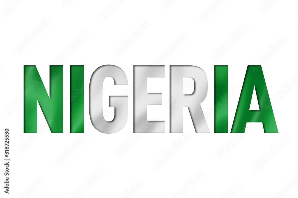 Fototapeta nigeria flag text font