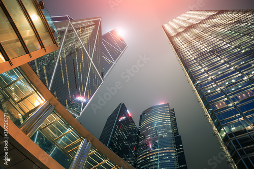 Photo building hongkong city