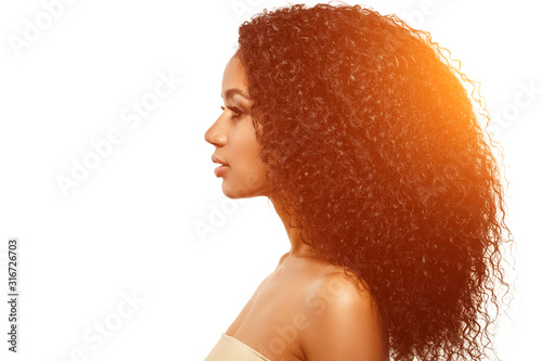 Fotomural Beauty black skin woman African Ethnic female face