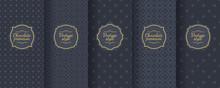 Set Of Dark Vintage Seamless Backgrounds For Luxury Packaging Design.