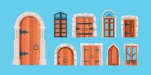 Medieval Doors. Ancient Wooden...
