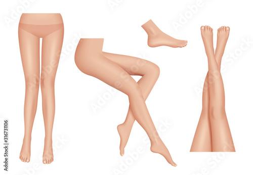 Fotomural Legs realistic