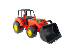 Plastic Tractor Toy With Bucke...