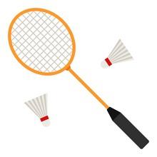 Badminton Racket And White Shu...