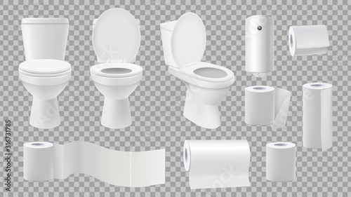 Fotografía Realistic toilet bowl