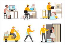 Delivery Service Concept. Set ...
