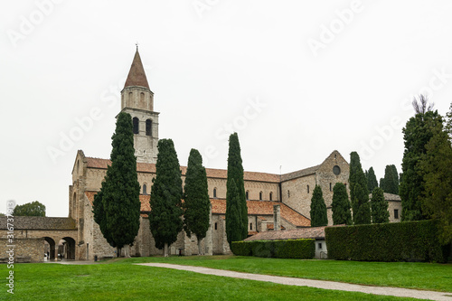 The cathedral of Aquileia on a cloudy day in late autumn Wallpaper Mural