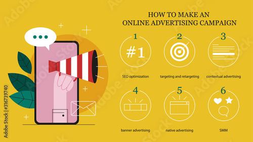 Photo Online advertising concept