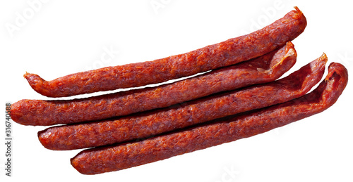 Cuadros en Lienzo Czech smoked snack sausages