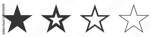 Obraz Star vector icons. Set of star symbols isolated. - fototapety do salonu