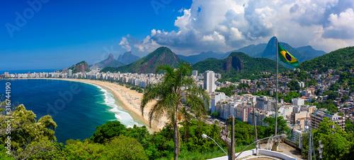 Photo Copacabana beach in Rio de Janeiro, Brazil