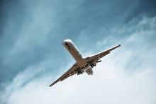 Epic Shot Of A Landing CRJ Series Regional Aircraft In Short Final