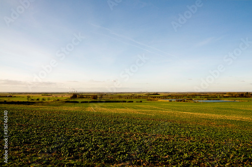 lincolnshire farmland Wallpaper Mural