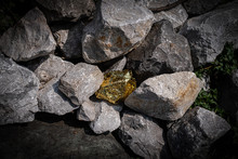 Gold Nugget And Grey Granite S...