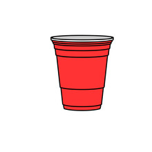 Beer Pong Red Cup. Clipart Ima...