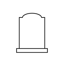 Blank Headstone Outline Icon. ...
