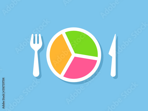 Food portion control design Canvas Print