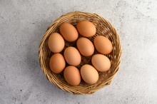 Many Brown Eggs Several In A W...