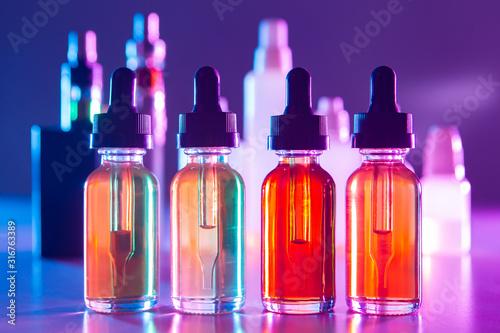 Vape liquids close-up Canvas Print
