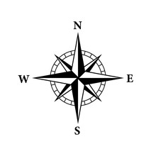 8 Point Compass Icon. Clipart ...
