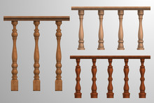 Wooden Banister Or Fencing Sec...