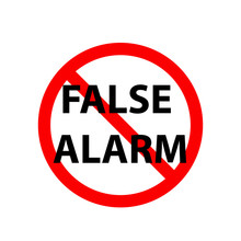 False Alarm Sign. Clipart Imag...