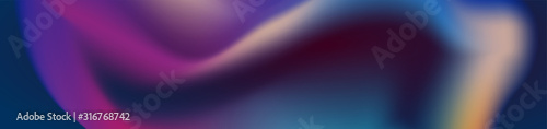 Abstract dark smooth liquid waves futuristic web banner design Wallpaper Mural