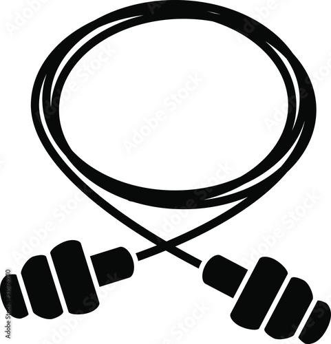 Photo earplug icon, vector illustration