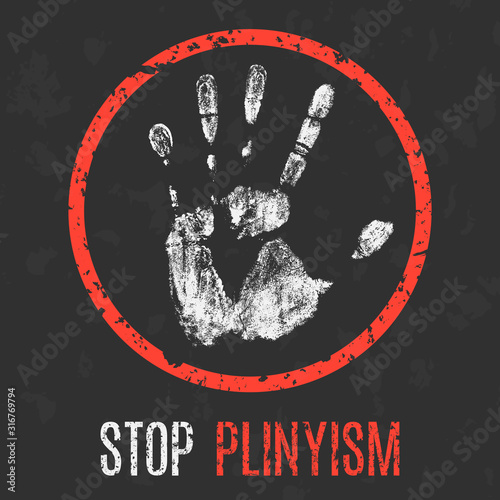 Photo The bad character traits. Stop plinysm.