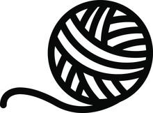Knitting Icon, Vector Illustra...