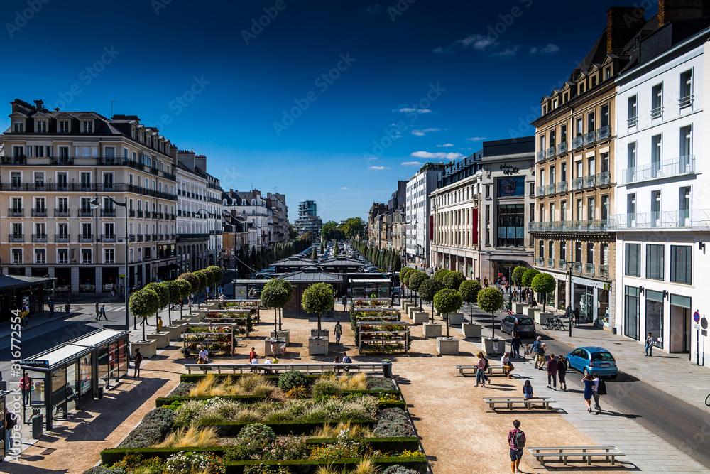 Fototapeta Rennes centre ville