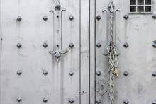 Closeup Of Old Iron Door With ...
