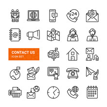 Contact Us Web Icons.