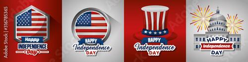 bundle of presidents day set emblems Fototapet