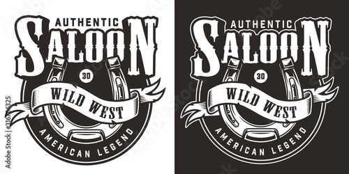 Obraz Vintage wild west logo - fototapety do salonu