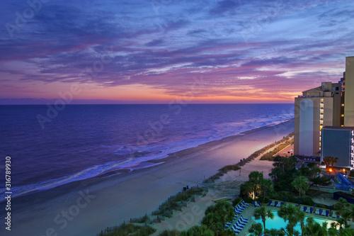 Fototapeta Myrtle Beach sunset view obraz