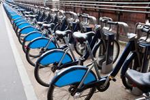 Public Rental Bicycles In A Li...