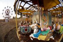 Ruins Of Amusement Park In Japan