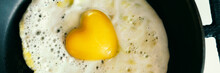 Banner Of Fried Egg Heart Shap...