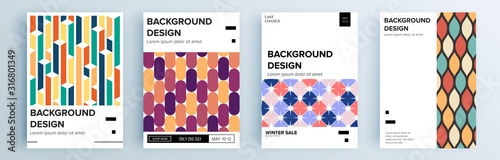Foto Modern abstract covers set, minimal covers design