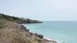 rocky sea shore landscape sete france mediterranean view