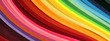 canvas print picture - Horizontal Abstract vibrant color wave rainbow strip paper background.
