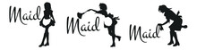 Various Silhouettes Of Maid